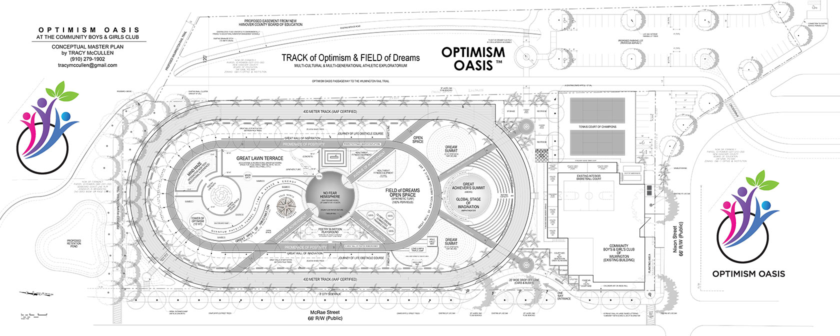 Wilmington Community Boys and Girls Club Optimism Oasis track and field conceptual rendering